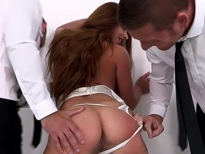 cum swallowing threesome videos