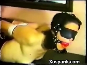 Bdsm Chick Spanked Wildly