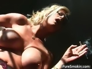 saggy old tits video smoking