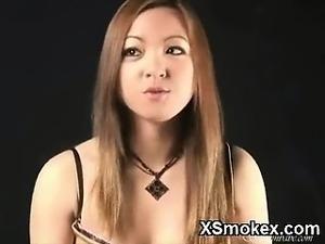 naked girls smoking pot