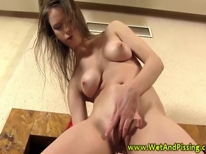 young blonde pee