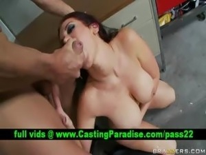 Jayden Jaymes busty brunette gets fucked and cumshoot