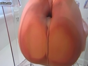 hairy pussy in nylon stockings