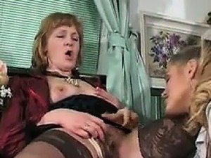 old women and young girl lesbians
