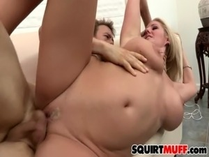 young blonde bound squirting