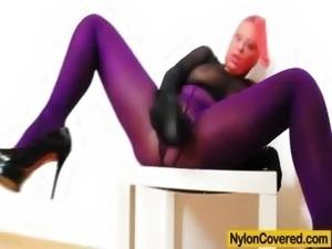 Hot girls in nylon