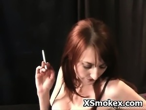 Teenage girls and smoking cigarettes