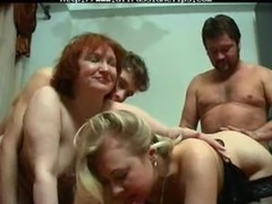swingers cum eating party video