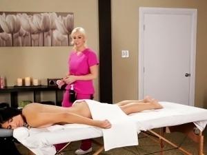 Lesbian hot oil massage