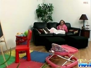 hot teens give babysitter a blowjob