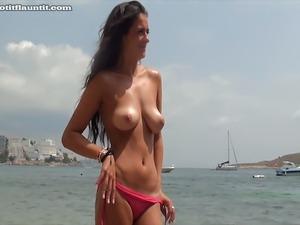 white girl in bikini