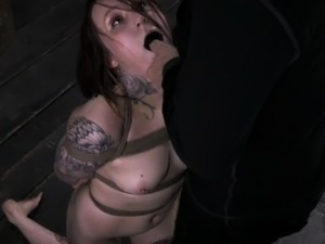 Tattood bdsm sub pussy stretched wide