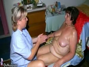 Chubby granny and fat milf masturbating with dildo free