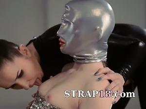 Lesbians strapon sex