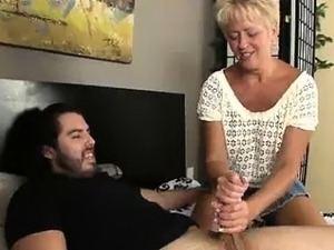 aunt gives handjob video