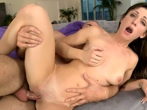 Stud is driving his hard boner wildly into babes wet hole