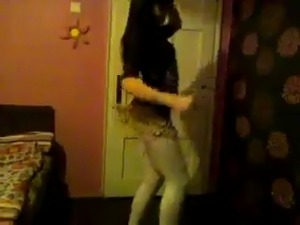 pretty young girl dancing