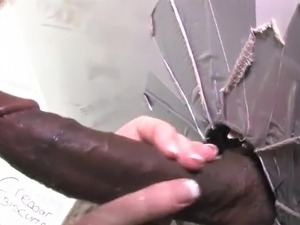 ebony glory hole vids