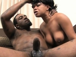 Black Slut With Nice Natural Titties Face Fucked Roughly