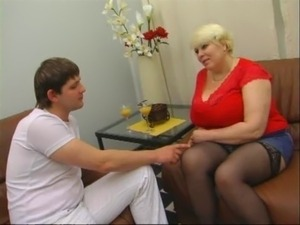 mature russian mom and young son