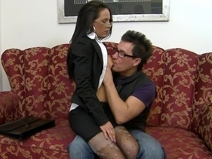 hot sexy secretary blowjob video