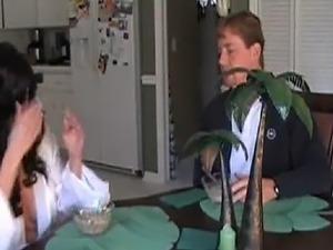 amature video wife around in kitchen
