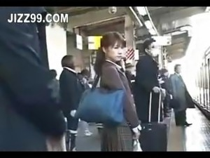 video public train blonde convinces fuck