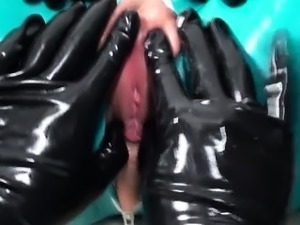 Lesbian latex video