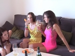 licking friends sisters pussy drunk goldschlager