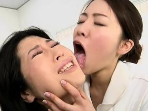 japanese lesbian suck tits
