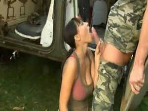 army men fuck the young lady