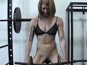 Naked gym video