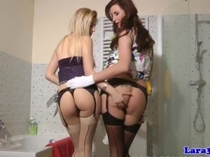 stockings wife threesome
