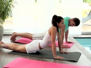 naked girls pussy yoga stretches