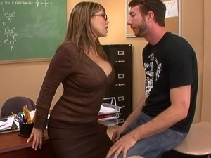 Teacher with big boobs