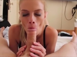 blonde sucking boyfriends dick video