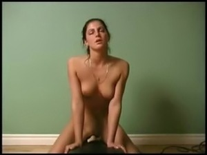 girl rides sybian machine video