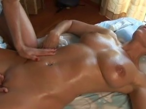 Orgasm massage turns lesbian