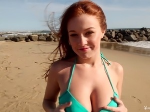 Curvy solo model with big tits getting erotic before posing seductively