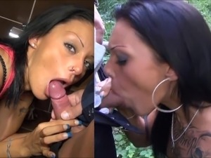 Cum in sisters mouth