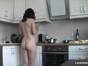 petite kitchen sex