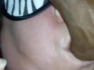 black girl spitting