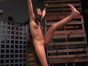 brunette pussy ass torture embarrassment