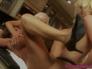 strapon her ass dildo in pussy
