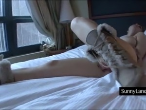 Sunny Lanes Plays with Her Pretty Pink Pussy