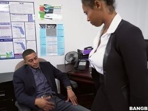 Sexy lesbian secretary