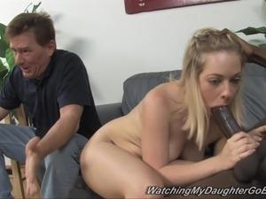 white girl stroking black guy