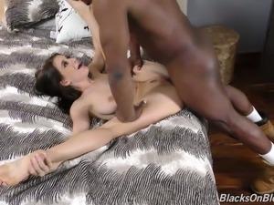 black guy cumming in my wife