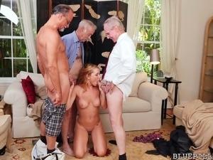Old man masturbating