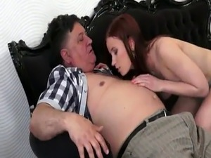 old man kissing young girl